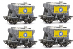 Dapol C40 Presflo Cement Wagon (pack of 4 kits)